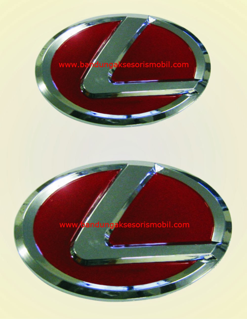 Emblem Paket Innova Model Lexus Merah
