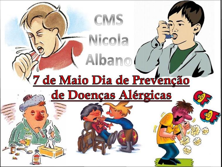 07 De Maio Dia Nacional de Prevenção das doenças Alérgicas