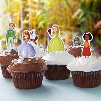 Cupcakes Princesa Sofia, parte 2