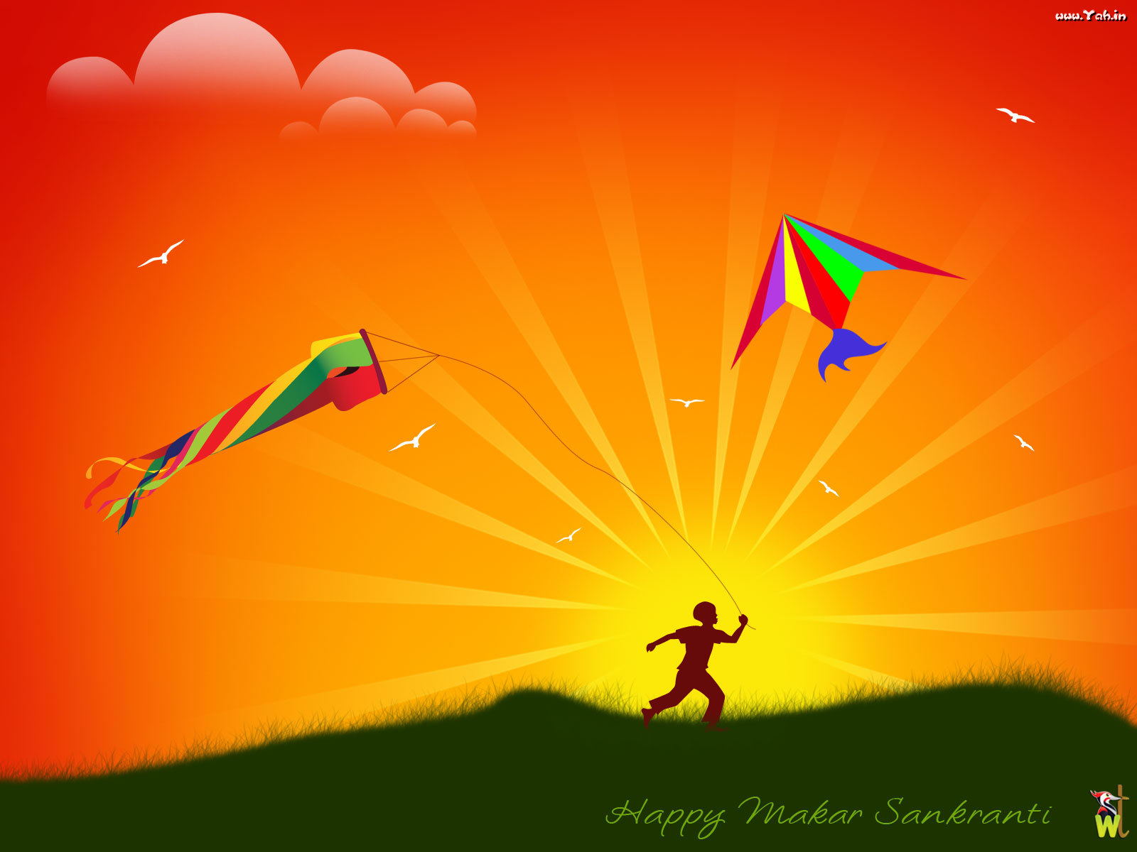All In One Wallpapers Happy Makar Sankranti Wishes Greeting Card