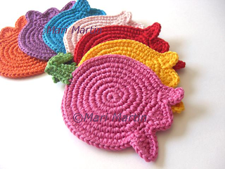 Crochet Coasters Bunch of Tulips