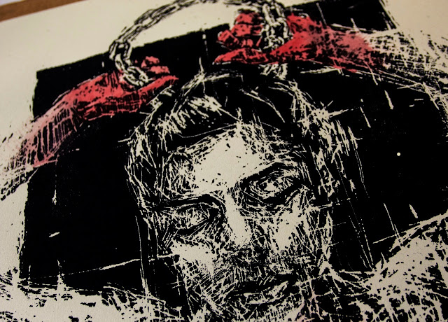 """El Peso De La Corona"" Limited Edition Screen Print By Borondo For StreetArtNews. 6"