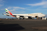 Yesterday (6/11/2012) Emirates 4866 from AUH via SIN arrived in Brisbane at . (mc)