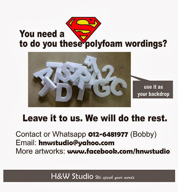 h&w studio background wordings