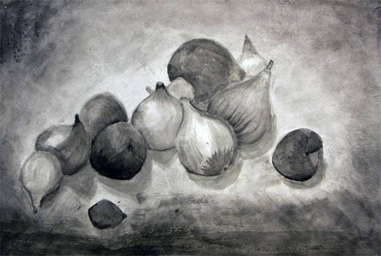 Basic Drawing 1 Ink Wash Drawings From Gsu
