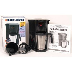 Black And Decker Coffee Maker Permanent Filter : Coffee Maker Reviews: Black & Decker DCM18S Brew n Go Personal Coffeemaker with Travel Mug