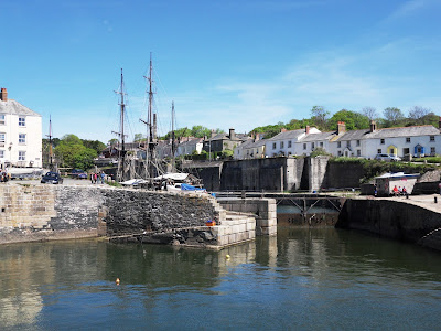 Looking back from Charlestown Harbour walls