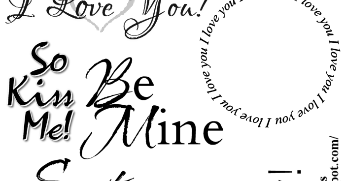 Escape From Reality Blog FTU Valentine Word Art