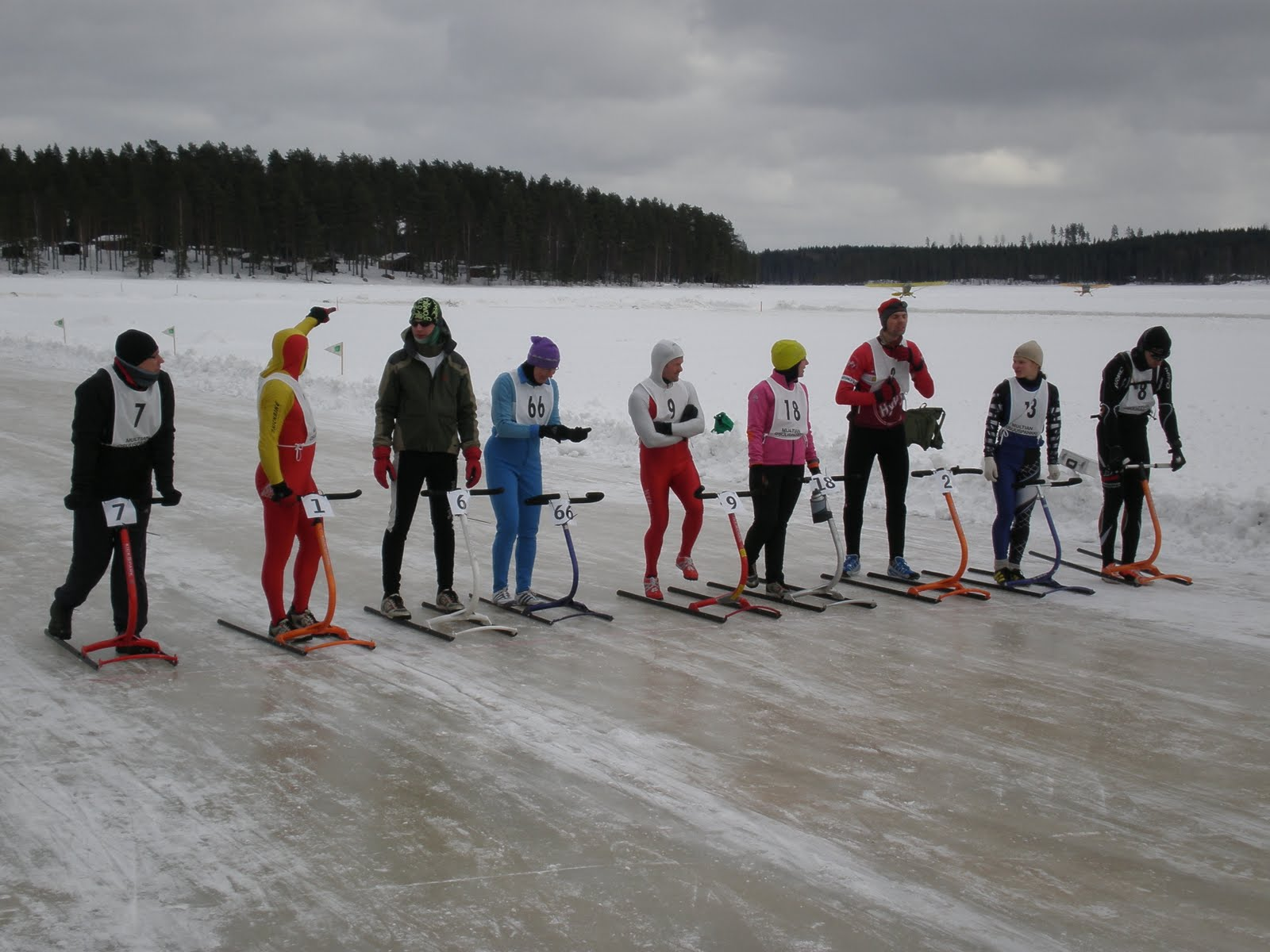 Potkulautailua Kickbikella ja potkukelkkailua: Suonenjoki Ice Marathon ilmoittautuminen!