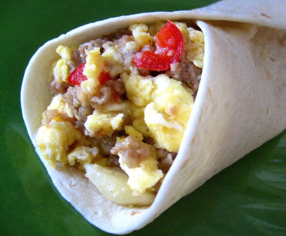 burrito and life Burritos do not only have to be a lunch or dinner food here are some tips to help you make your own breakfast burritos: in a frying pan, cook the bacon over medium heat make sure to cook both sides by flipping the bacon over turkey bacon may be used instead as a healthier alternative you will.