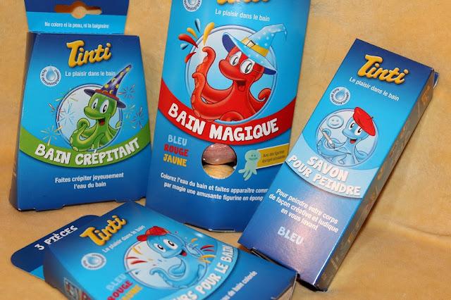 produit colorant de bain pour enfants