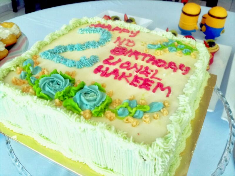 LIONEL HAKEEM's 2nd BIRTHDAY CAKE