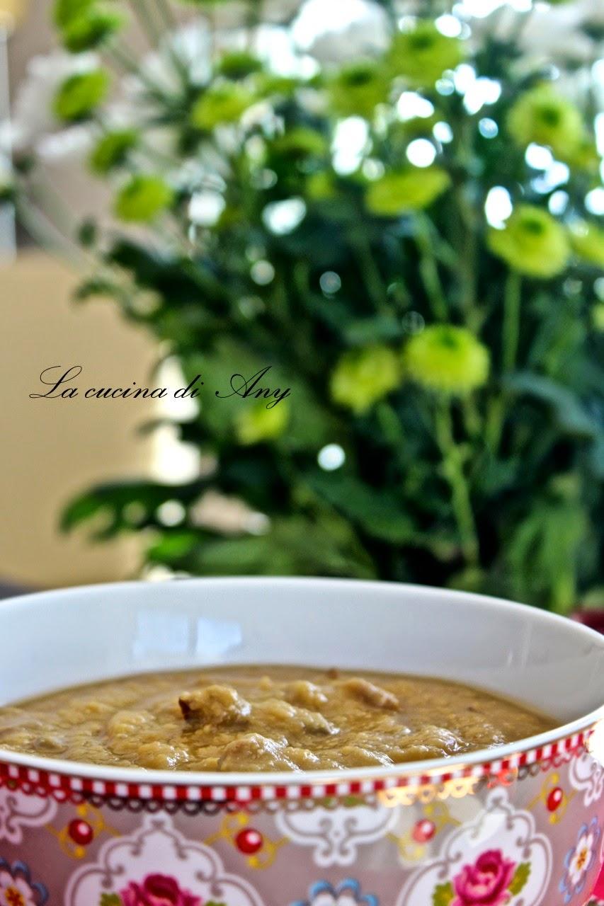 zuppa di ceci e funghi porcini - supa crema de naut si hribi