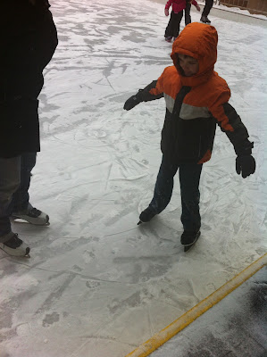 child learning to skate