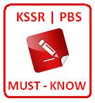 Below are important notes about KSSR and PBS which will most probably