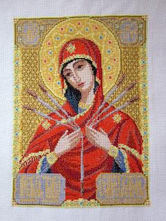 Схема вышивки семистрельной божьей матери бесплатно