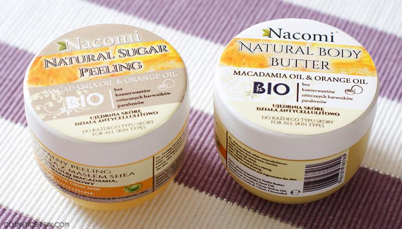 masło, nacomi, peeling