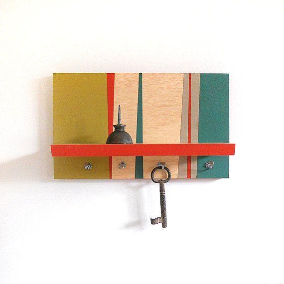 Porta chaves reutilize sobras de madeira
