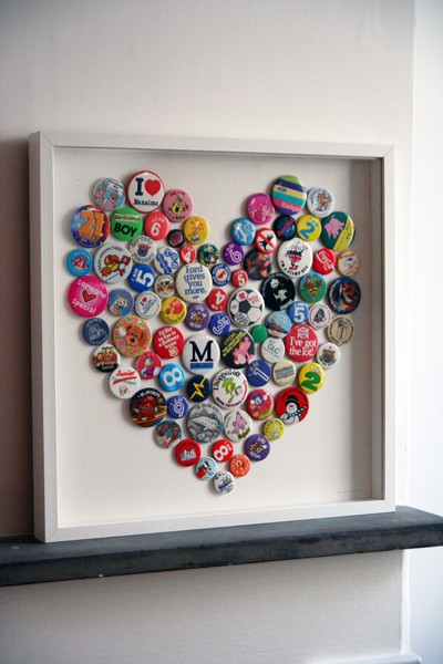 Yeowzers heart collecting 15 button craft heart for What to do with old mailbox