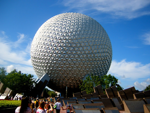Spaceship Earth golf ball - Epcot, Disney World, Florida