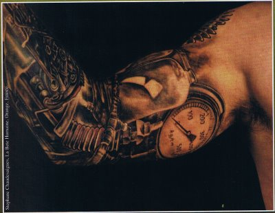 Dark Tattoos on 3d Tattoo Dark Biomech Elbow On The Arm