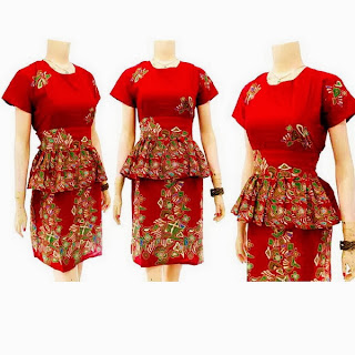 DB3257 Model Baju Dress Batik Modern Terbaru 2013