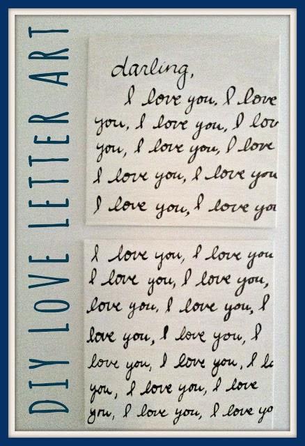 http://shabbynest.blogspot.com/2013/06/diy-love-letter-art.html