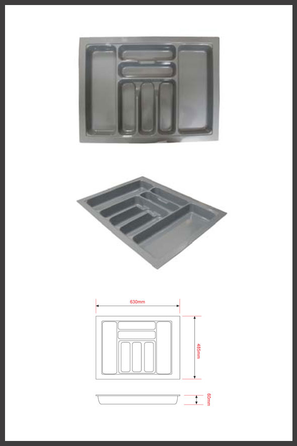 Rak sendok plastik pemasangan dalam laci lintang fittings for Ukuran rak piring kitchen set
