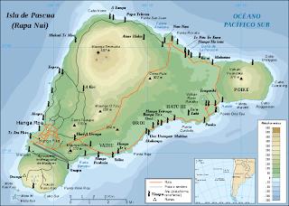 Mapa Cabezas de la Isla de Pascua