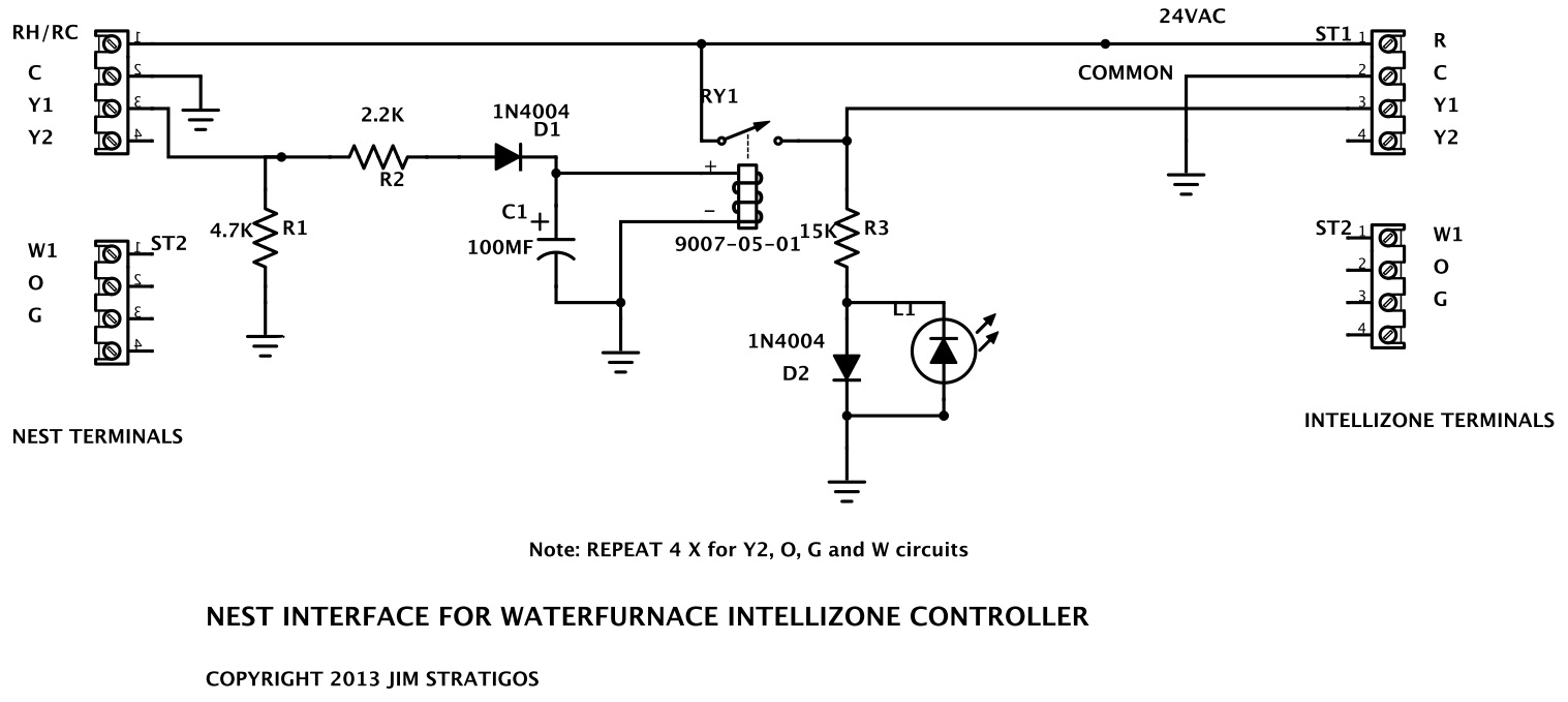 Electronic Peach Feathering Your Nest Water Furnace Wiring Diagram Once I Installed The Interface Between And Waterfurnace Intellizone Controller All Was Good Our Home Now Has Its Hvac System At Least