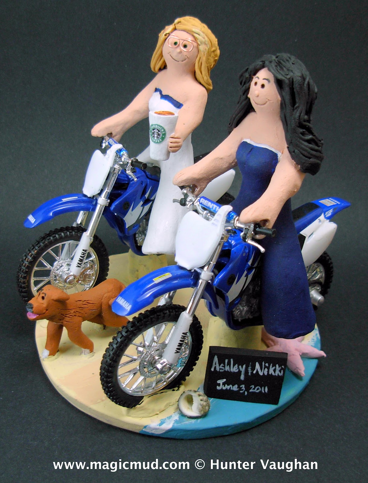 wedding cake toppers bicycle