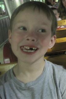 Happy seven-year old boy