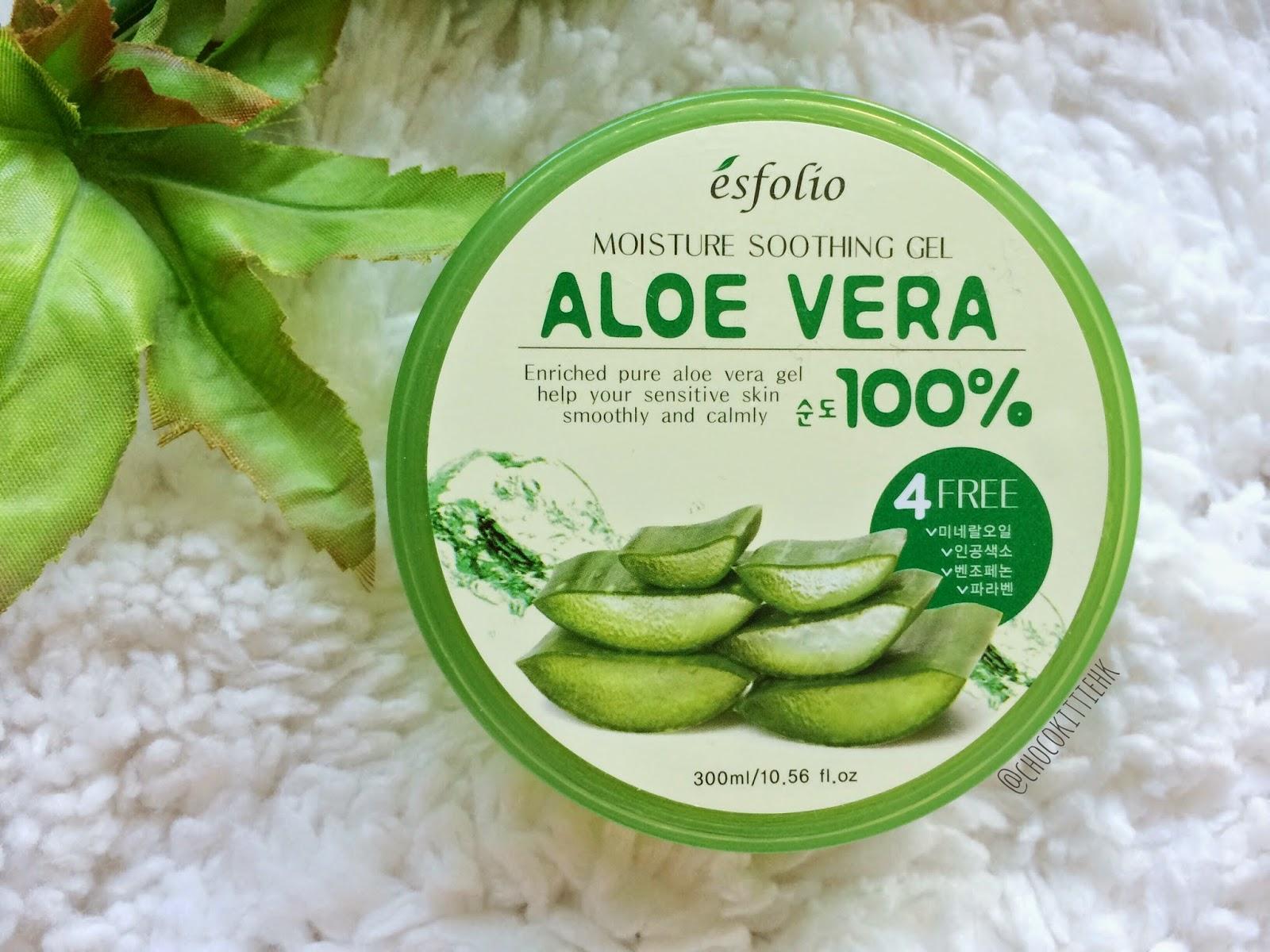 new esfolio 100 aloe vera moisture soothing gel 300 ml ebay. Black Bedroom Furniture Sets. Home Design Ideas