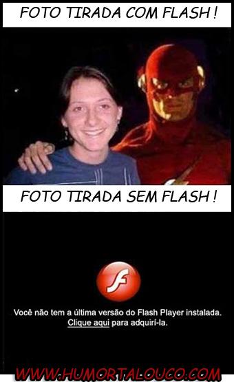 Foto tirada com e sem Flash...