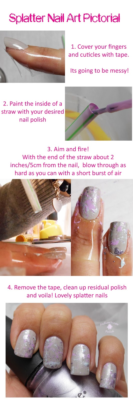 Indian ocean polish pastel paint splatter nail art tutorial splatter nail art is done some notes prinsesfo Choice Image