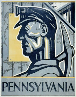 WPA poster: Pennsylvania miner