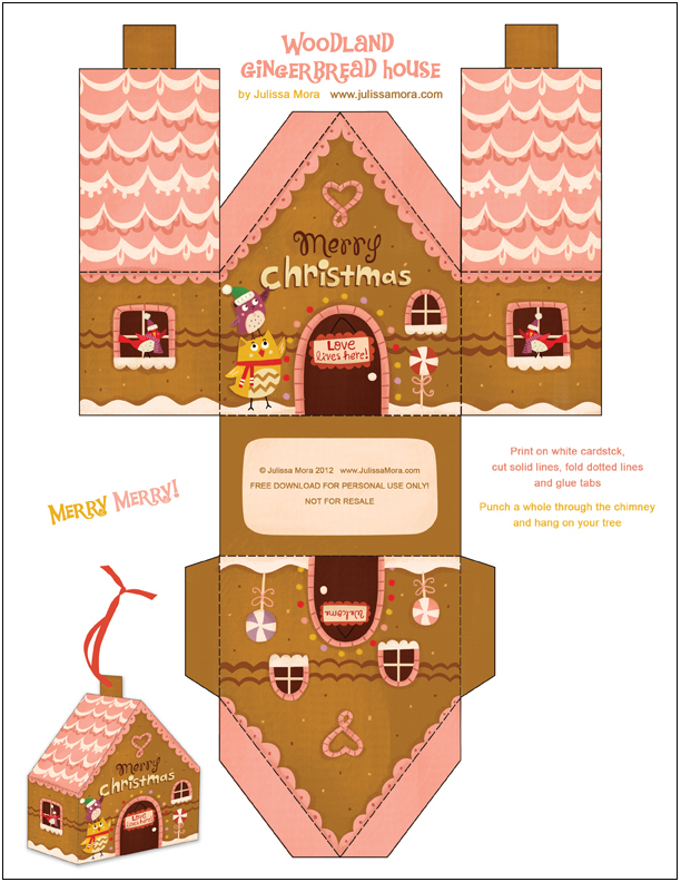 Massif image with gingerbread house printable