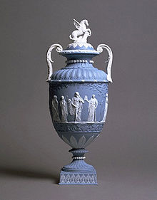 Photograph of a Wedgwood Jasperware urn