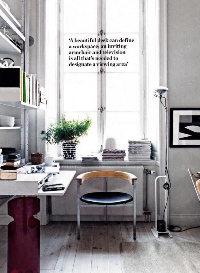 Modern interior design toio ultra modern minimalist floor lamp flos toio lamp in elle decoration april 2012 aloadofball Gallery