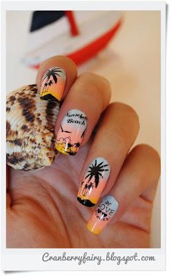 plaża na paznokciach