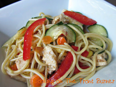 Cooking on the Front Burner: Oriental Pasta Chicken Salad