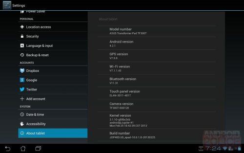 Negli Usa iniziati gli aggiornamenti alla versione android 4.2 per i tablet Asus