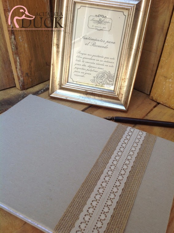 Libro de firmas tela