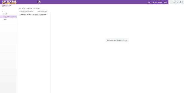 Microsoft Outlook Web App My Task Page