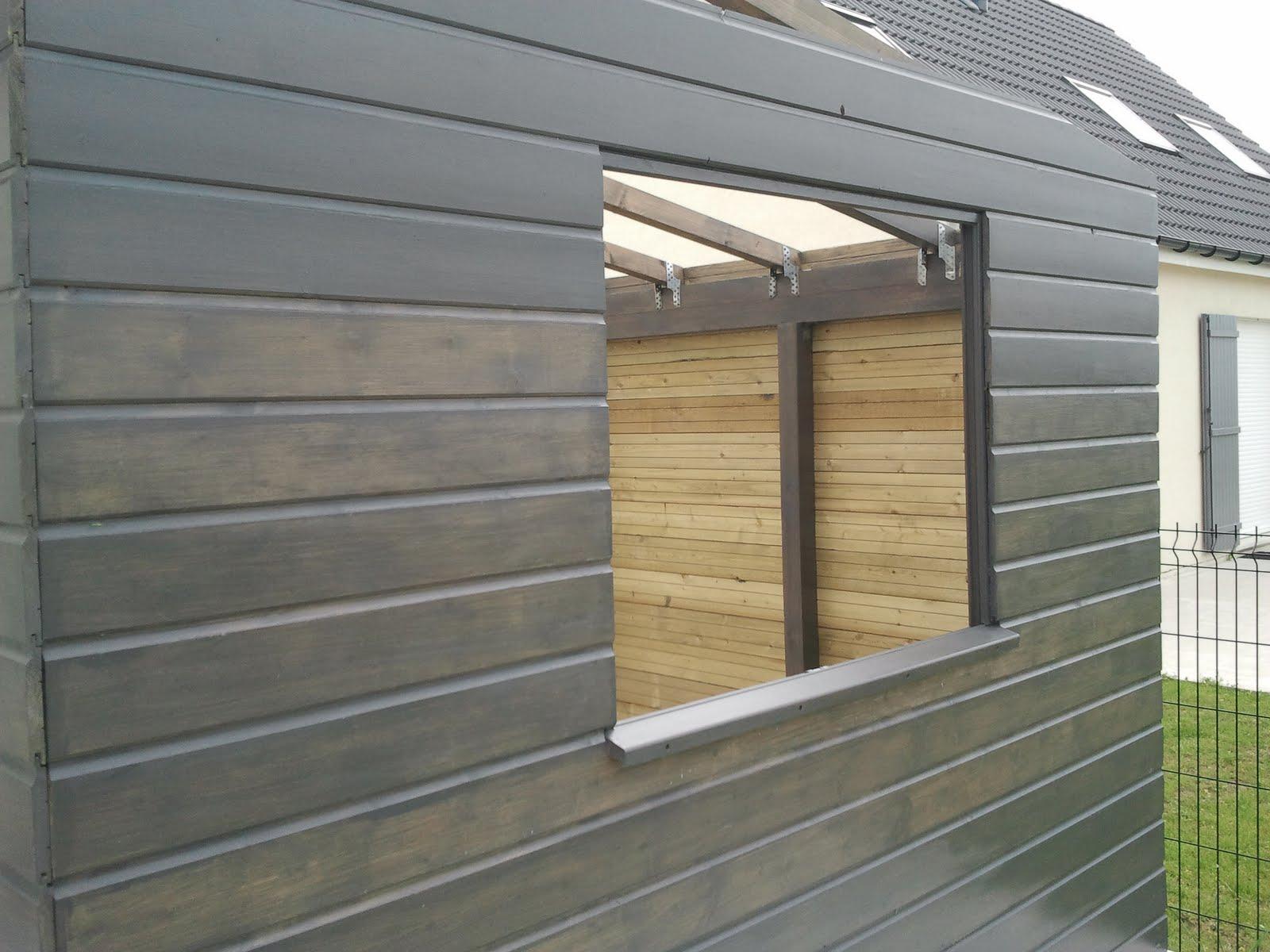 notre maison le carport l 39 abri a bois et l 39 abri de. Black Bedroom Furniture Sets. Home Design Ideas