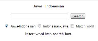 Kamus Bahasa Jawa Online