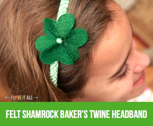 #St. Patrick's Day #felt #shamrock #clover #diy #headband #hearts