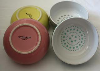 Cyrillus porcelain bowls
