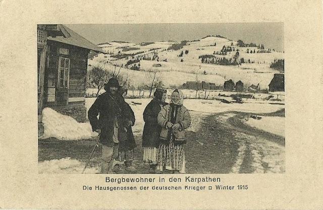 Munteni din Carpati, iarna lui 1915