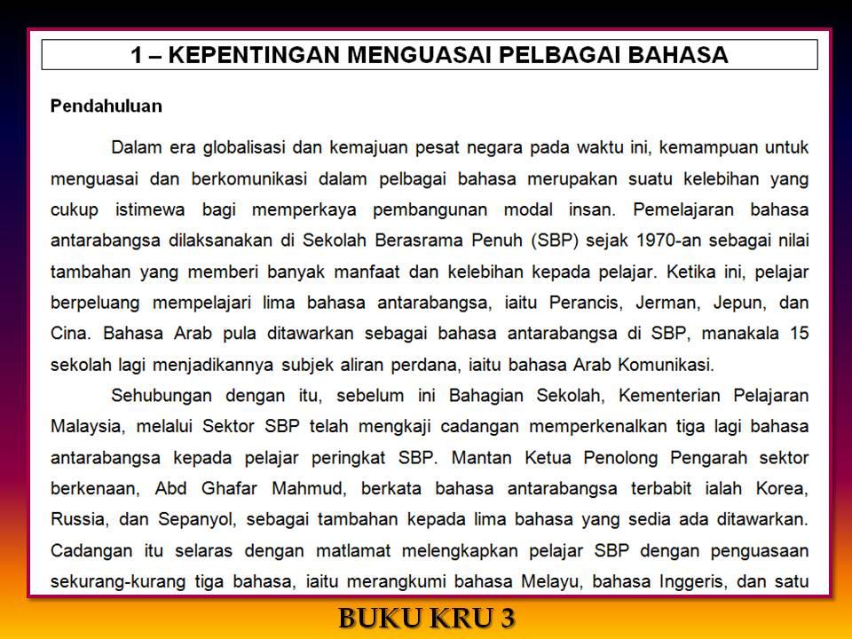 Karangan Dalam Bahasa Contoh Karangan Kegunaan Bahasa Melayu Karangan